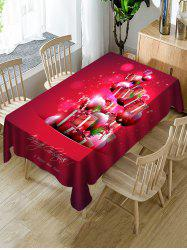 Christmas Gifts Ball Print Fabric Waterproof Tablecloth -