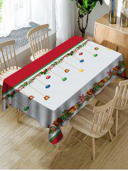 Christmas Gifts Print Fabric Waterproof Tablecloth -