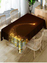 Christmas Starlight Print Fabric Waterproof Tablecloth -