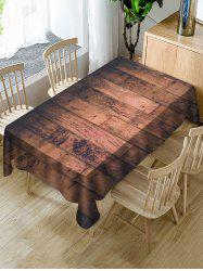 Wood Board Print Fabric Waterproof Tablecloth -