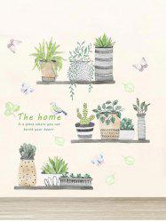Bird Plant Potting Removable Wall Sticker -
