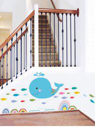 Whale Fish Printed Removable Wall Sticker -