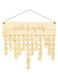 Wooden Growth of My Baby Calendar Reminder -