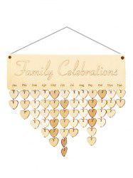 Wooden Family Celebration Calendar Reminder -