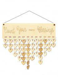 Wooden Count Your Many Blessings Calendar Reminder -