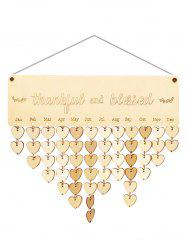 Wooden Thankful and Blessed Calendar Board -