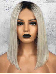 Medium Center Parting Ombre Straight Synthetic Wig -
