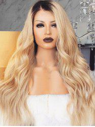 Long Ombre Wavy Capless Synthetic Wig -