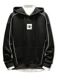 Embroidery Applique Casual Pocket Hoodie -