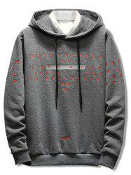 Letter Embroidery Casual Pullover Hoodie -