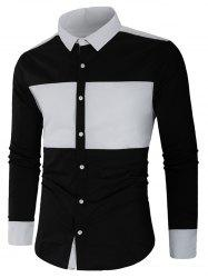 Color Block Long Sleeve Shirt -