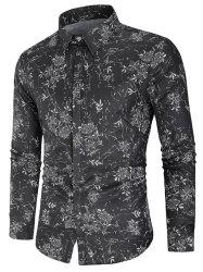 Flower Print Button Up Shirt -