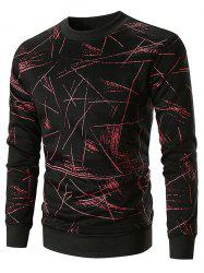 Sweat-shirt Pull-over Ligne Imprimée Partout -