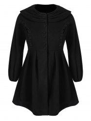 Plus Size Ruffle Long Skirted Coat -