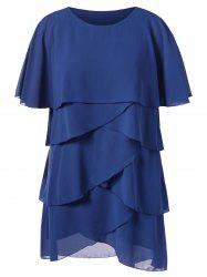 Plus Size Layered Overlap Dress -
