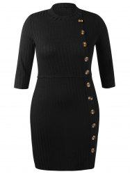 Plus Size Ribbed Bodycon Dress -