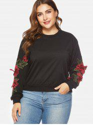 Applique Long Sleeve Plus Size Sweatshirt -