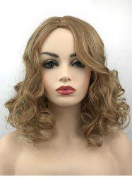 Medium Center Parting Colormix Curly Synthetic Wig -