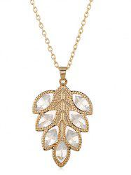 Stylish Alloy Leaf Pendant Chain Necklace -