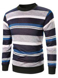 Wide Striped Crew Neck Sweatshirt -