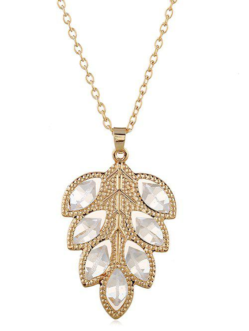 Cheap Stylish Alloy Leaf Pendant Chain Necklace