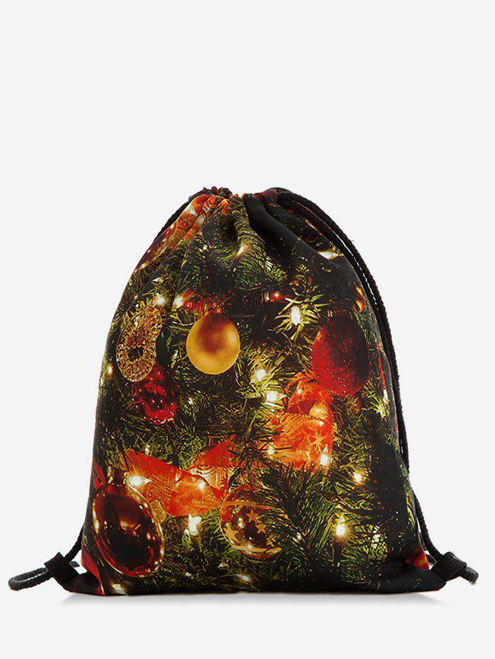 Shop Christmas Bell Print Travel Backpack