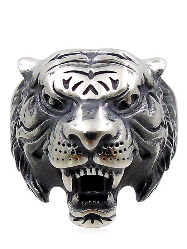 Store Overstatement Carved Tiger Metal Ring