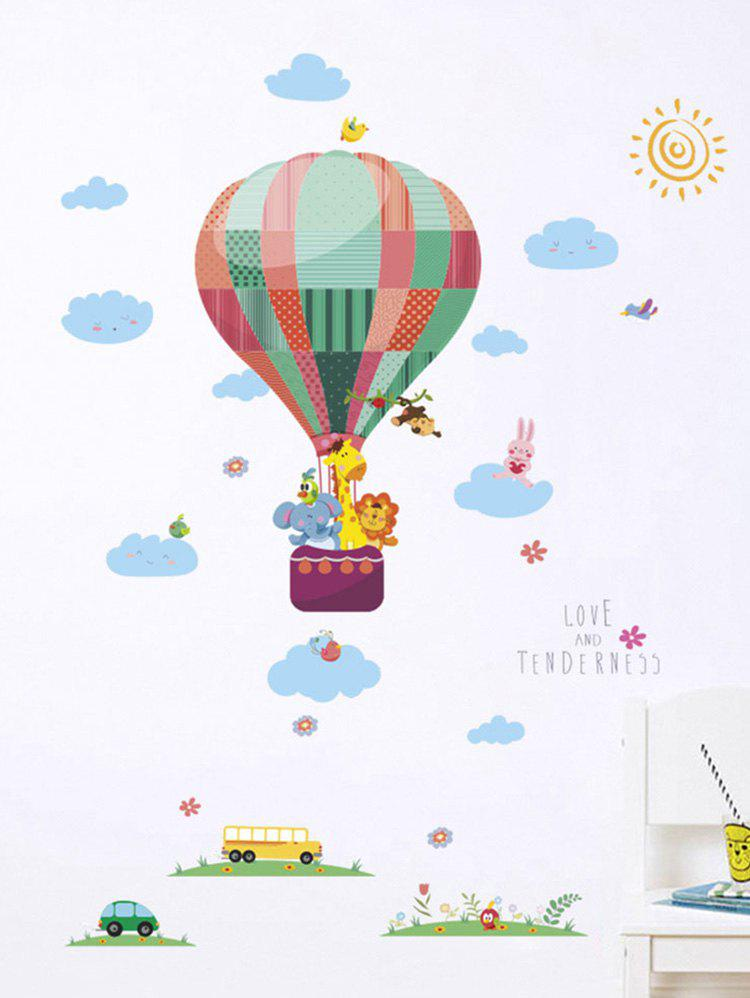 Fashion Lovely Animal Fire Balloon Print Removable Wall Art Stickers