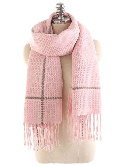 Buy Winter Rhombus Fringed Long Scarf