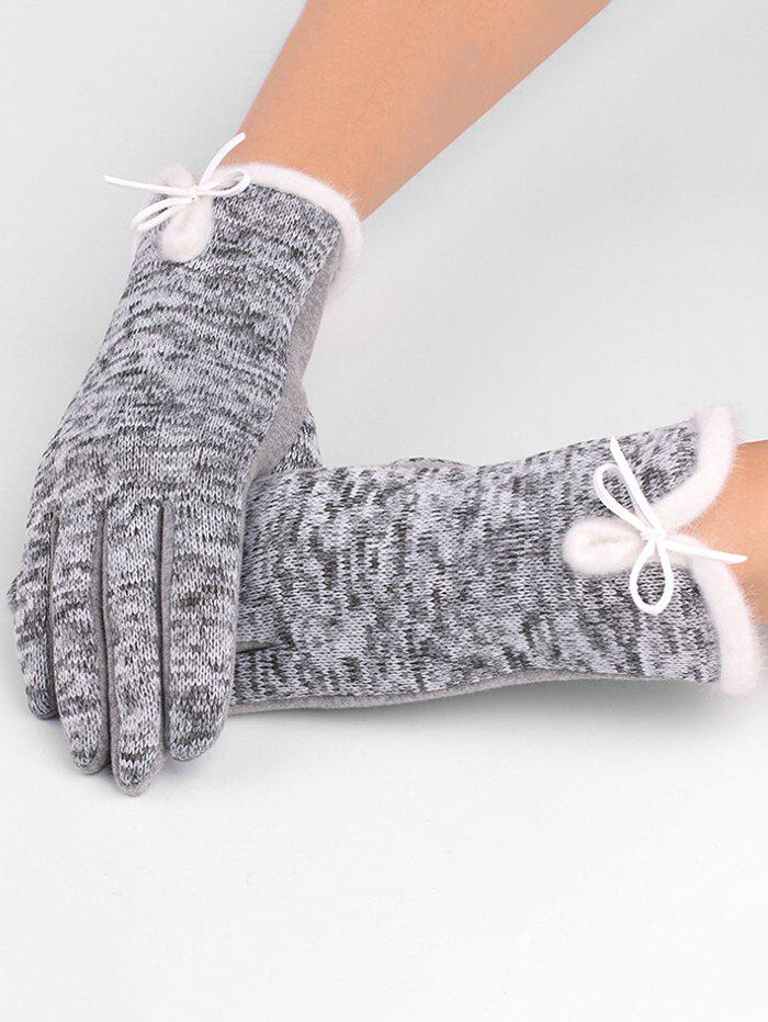 Buy Winter Bowknot Thicken Gloves