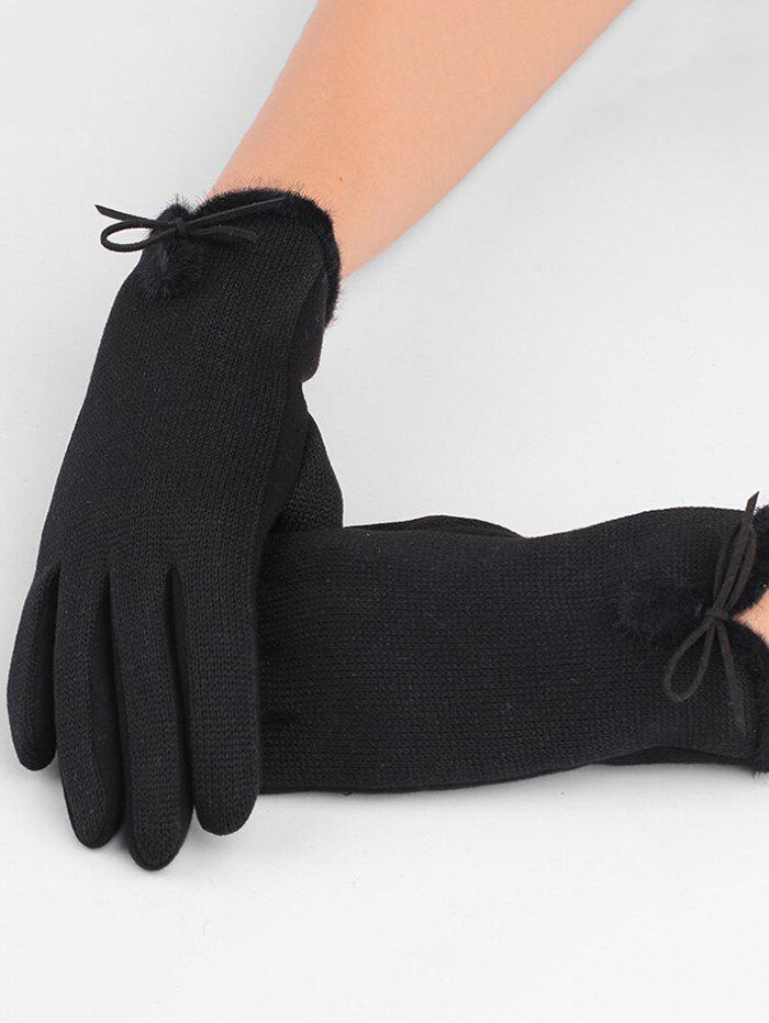Latest Winter Bowknot Thicken Gloves