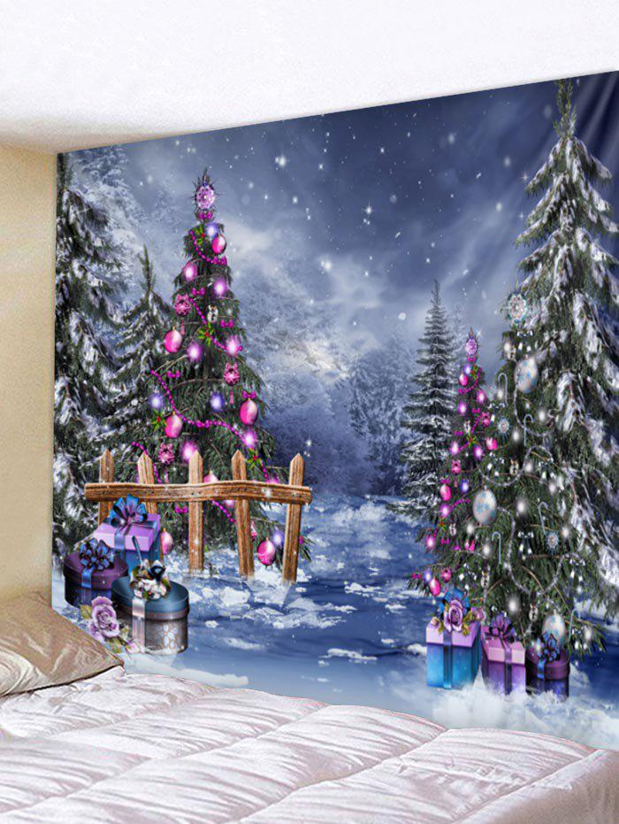 Latest Christmas Tree Print Wall Tapestry Art Decoration