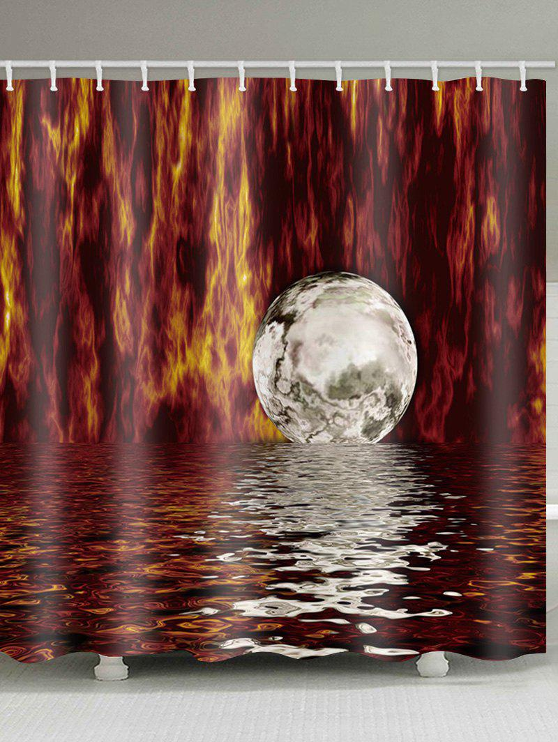 Sale Unique Moon Print Waterproof Shower Curtain