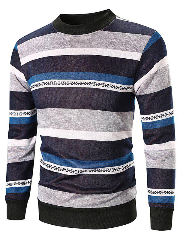 Outfit Wide Striped Crew Neck Sweatshirt