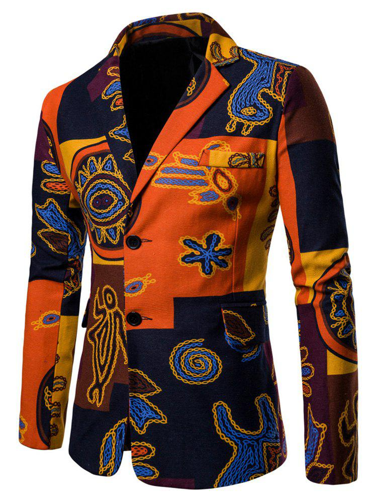Affordable Ethnic Style Printed Casual Blazer