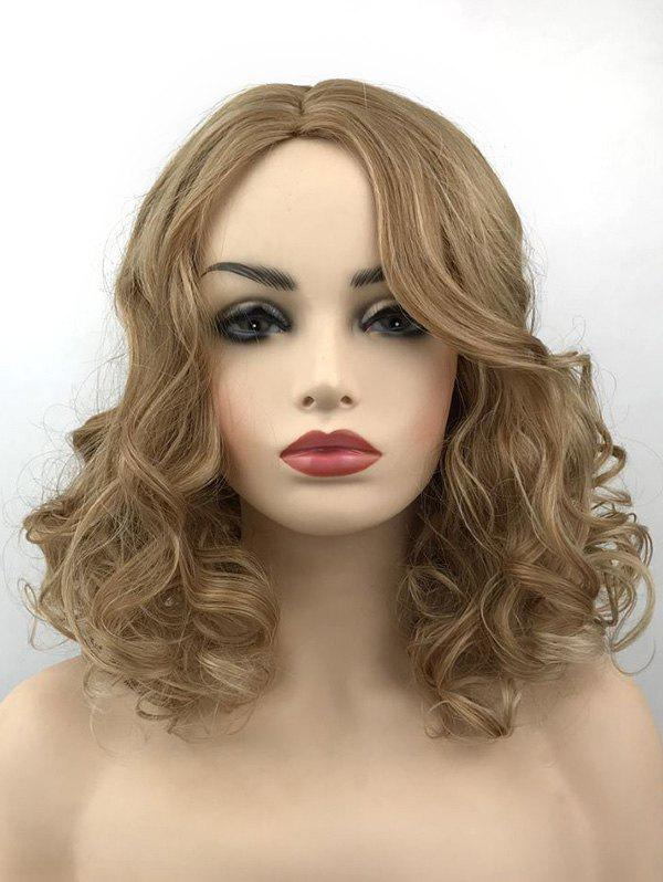 Shop Medium Center Parting Colormix Curly Synthetic Wig