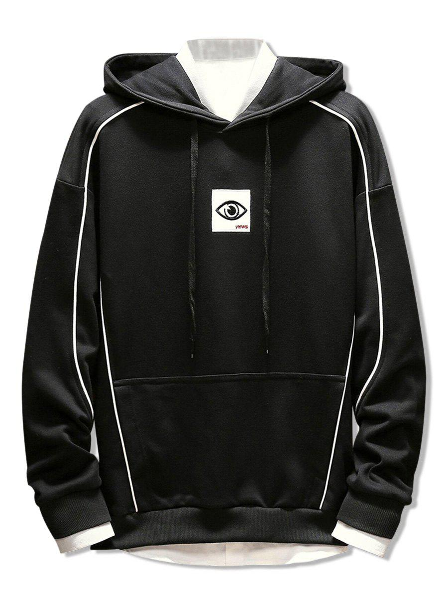 Fashion Embroidery Applique Casual Pocket Hoodie