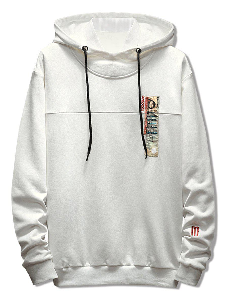 Store Stitchwork Applique Casual Drawstring Hoodie