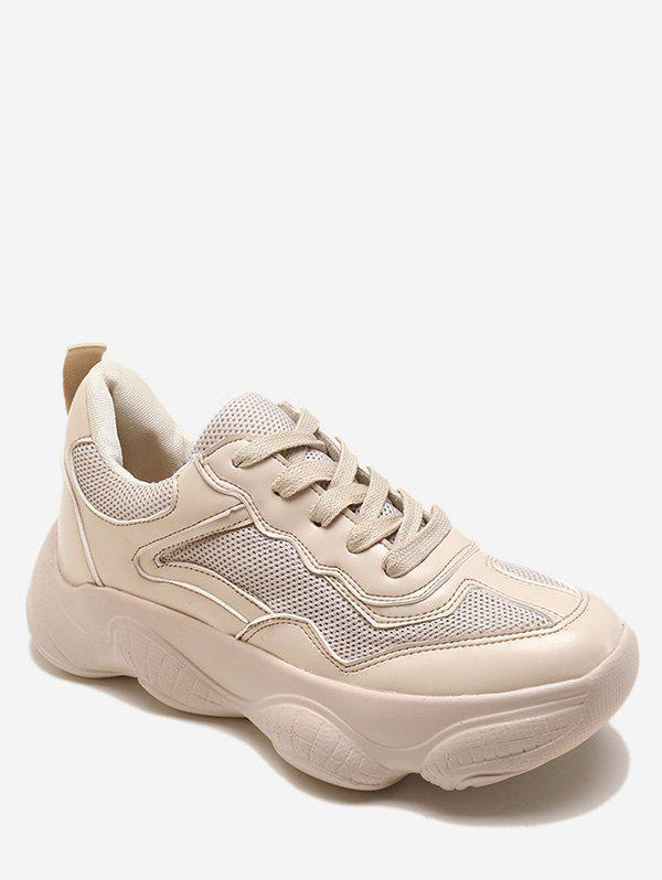 Lace Up Chunky Athletic Sneakers