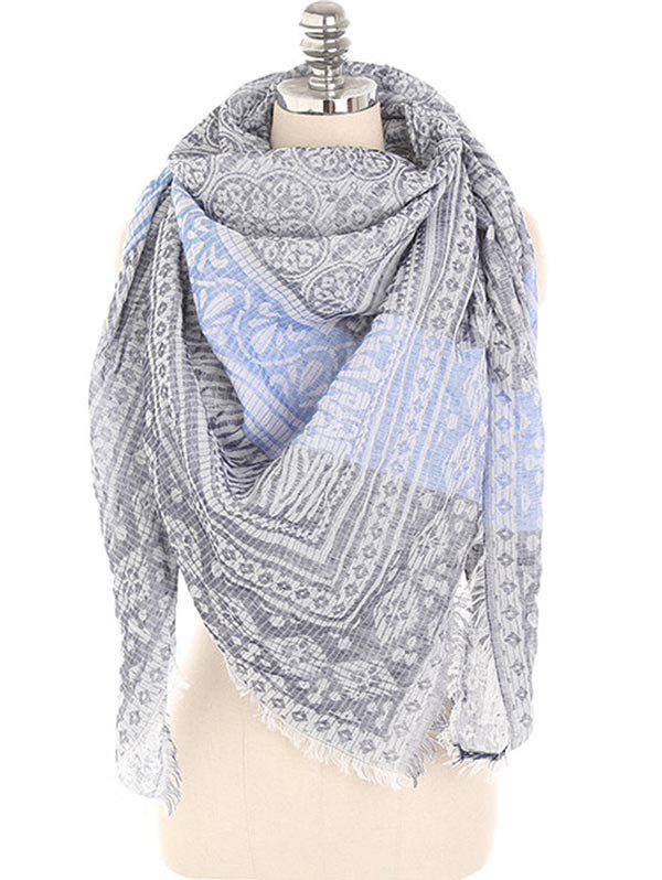 Unique Lightweight Floral Fringed Winter Long Scarf
