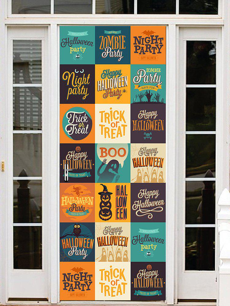 Latest Halloween Letters Pattern Door Cover Stickers