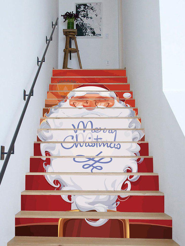 Discount Merry Christmas Santa Claus Removable Stair Stickers