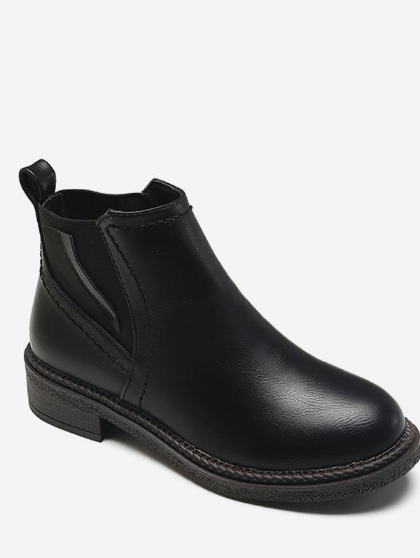 Sale PU Leather Short Chelsea Boots