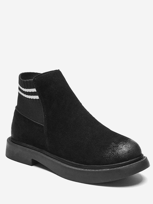 New Low Heel Suede Short Chelsea Boots