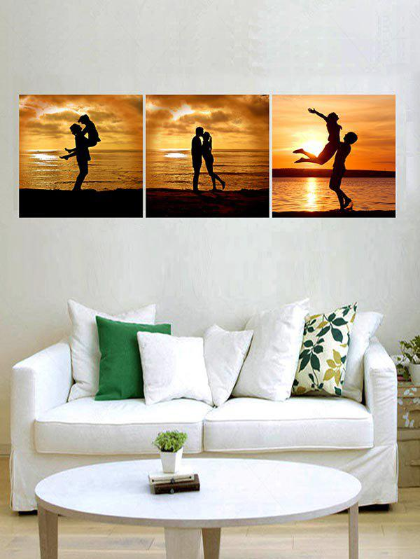 Sunset Lover Print Unframed Split Canvas Paintings