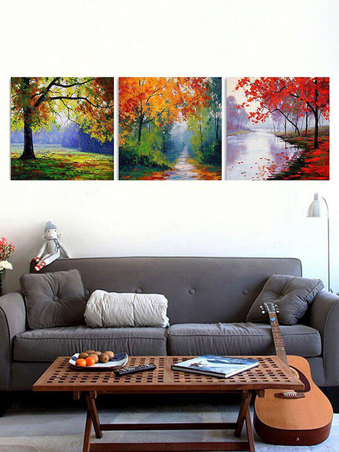 Affordable Maple Forest Print Unframed Split Canvas Paintings