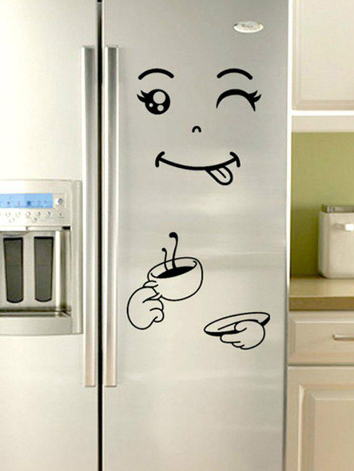 Trendy Funny Printed Removable Refrigerator Wall Sticker
