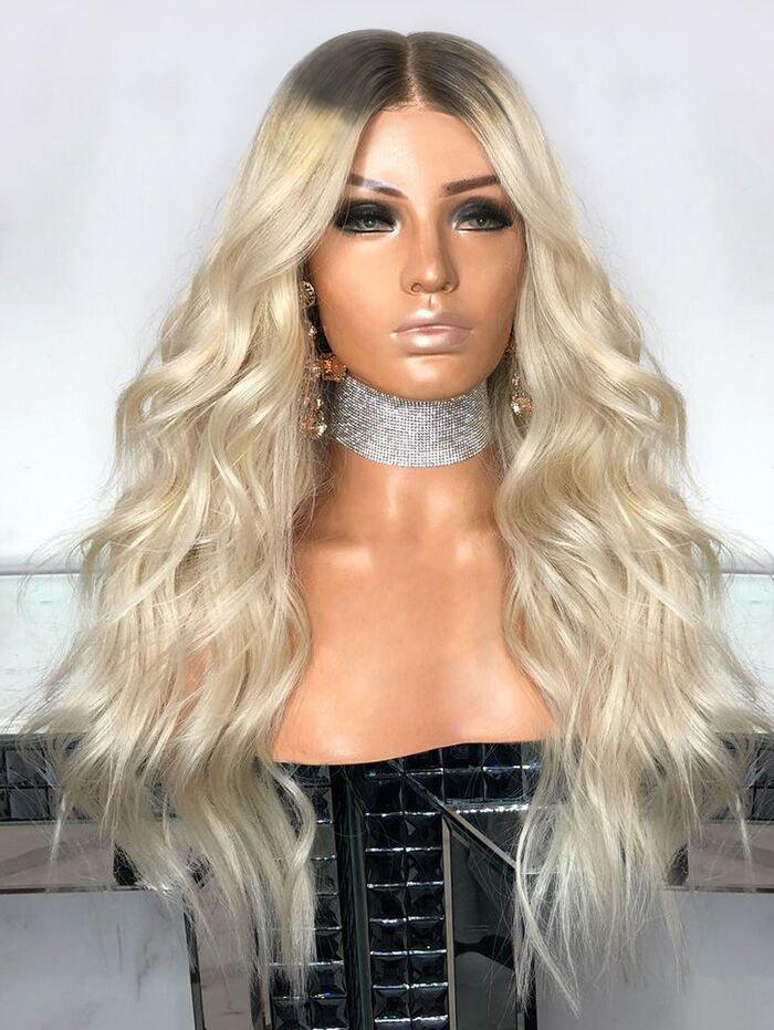 Outfit Center Parting Long Wavy Synthetic Wig