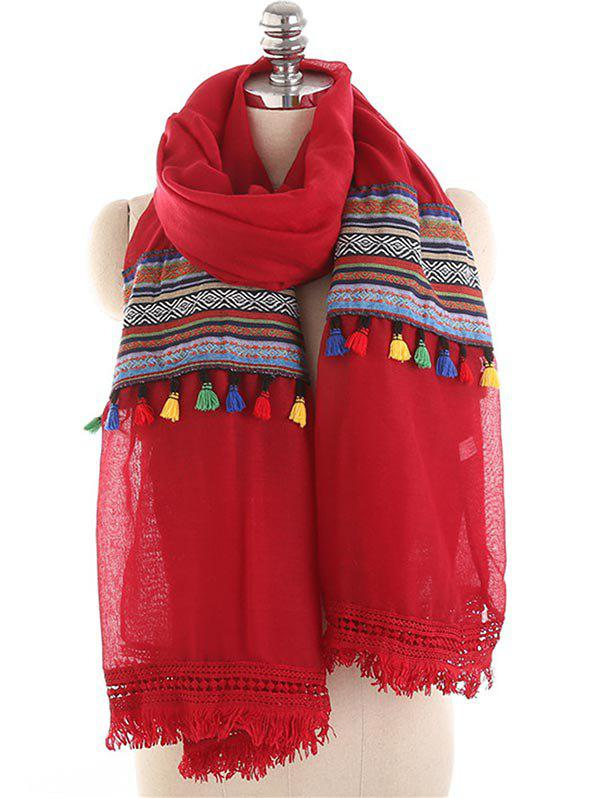 Online Bohemian Fringed Long Scarf