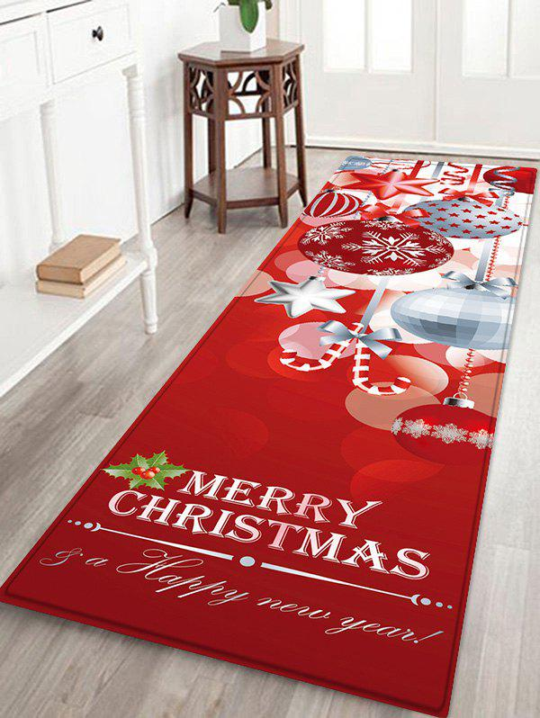Latest Christmas Snowflake Printed Non-slip Flannel Floor Mat